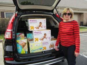 Hoeganaes Donates Diapers