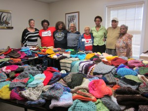 Show You Care Ministry of Green Grove Baptist Church Donates 700 Handmade Hats