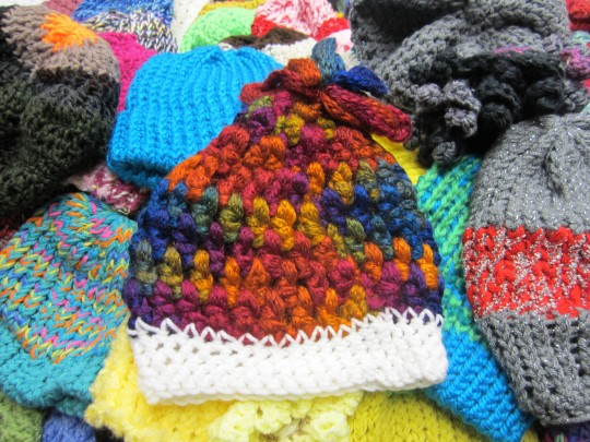 crocheted hat for oaks integrated care