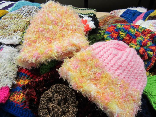 children hats donated to oaks integarted care