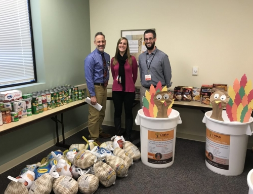 Oaks Integrated Care Collects Thanksgiving Meals for Families in Need